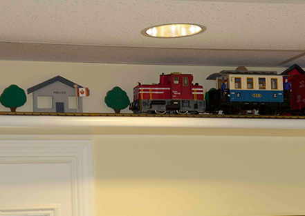 The train at our pediatric dentist office in Mission, BC